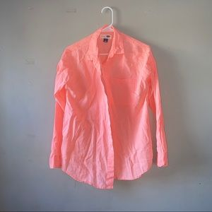 Old Navy neon pink camp shirt size M